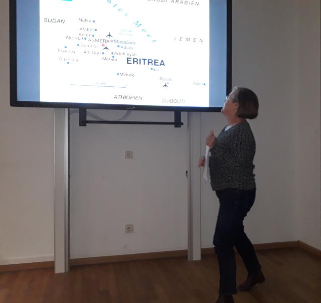 Frau Dr, Tanja Müller gibt einen Einblick zum Land Eritrea